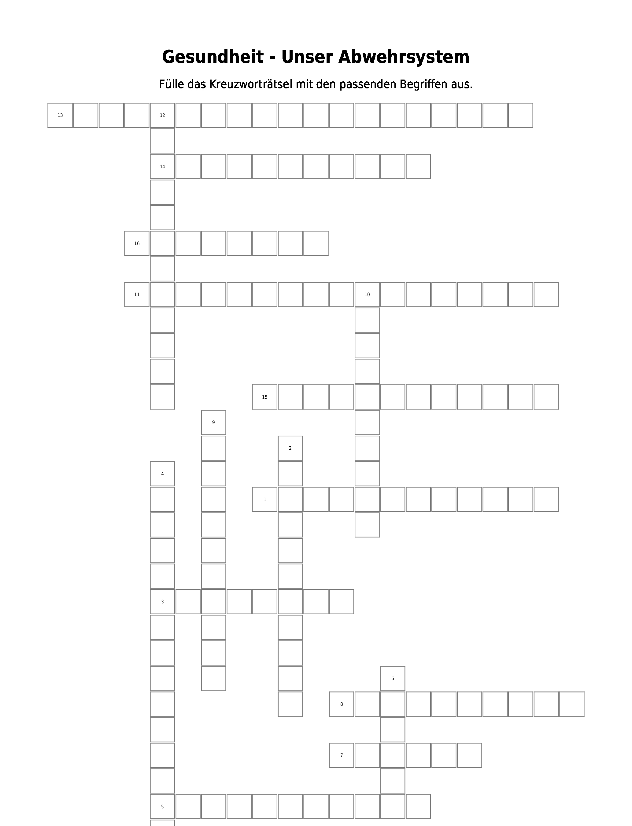 Kreuzworträtsel \