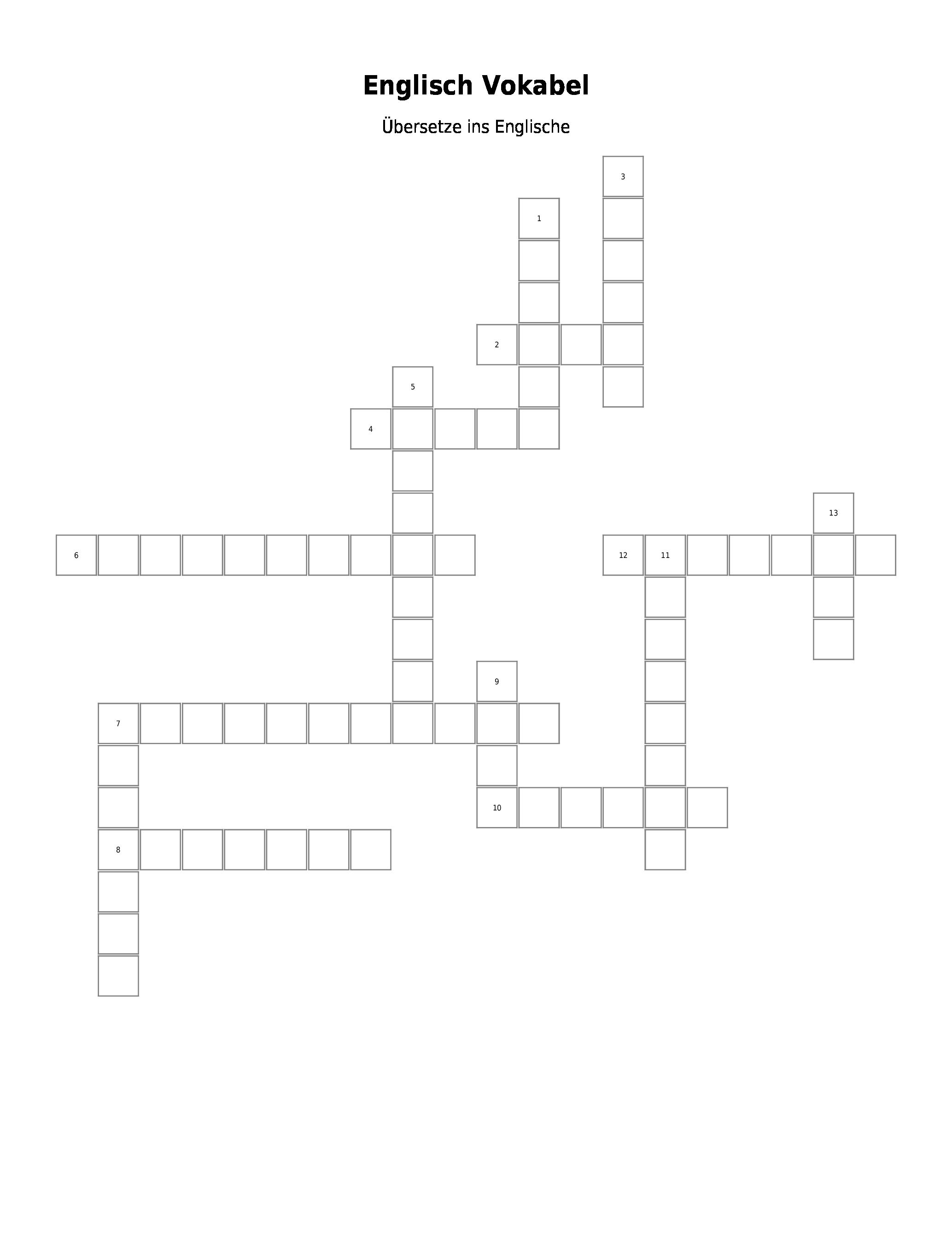 Kreuzworträtsel Erstellen Mit Lösungswort
