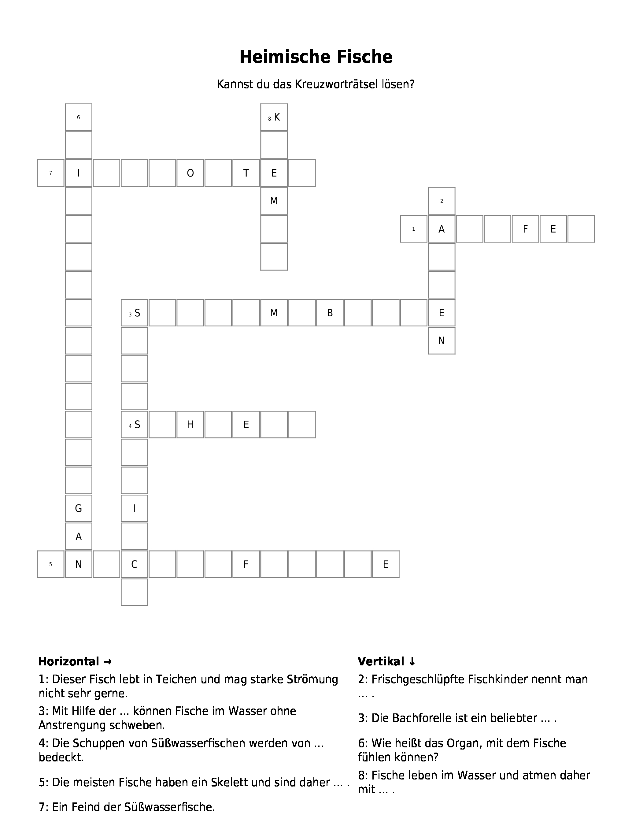 Kreuzworträtsel Rätsel