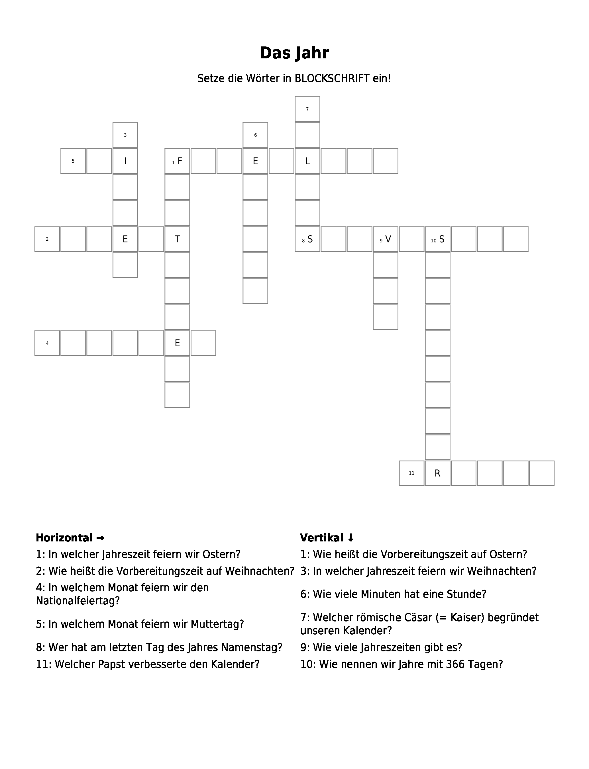 Begründet Kreuzworträtsel